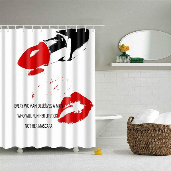Dark Lips Shower Curtain