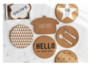 Chic Brown Cork Coasters