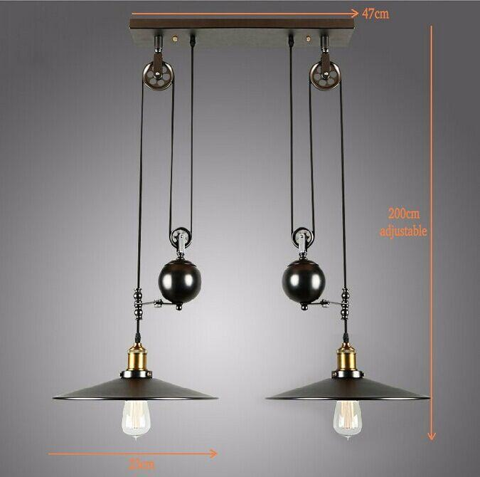 Vintage Pulley Pendant Light