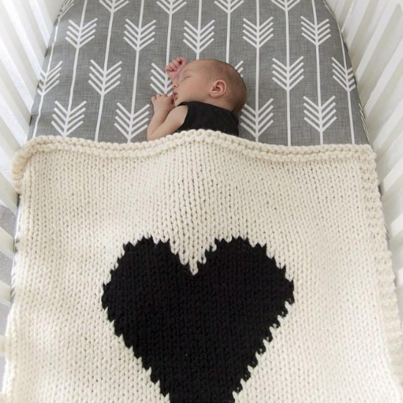 Knit Heart Blanket