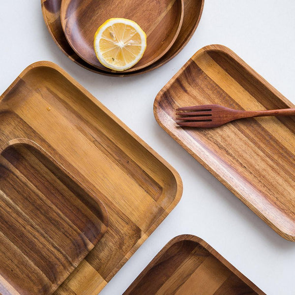 fb-feed · Skov™ - Wooden Rectangle Dinner Plates ... & Acacia Wooden Dinner Plates - Ivy and Wilde