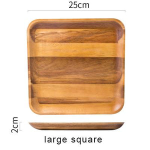 Skov™ - Wooden Rectangle Dinner Plates  sc 1 st  Ivy and Wilde : square wooden dinner plates - pezcame.com