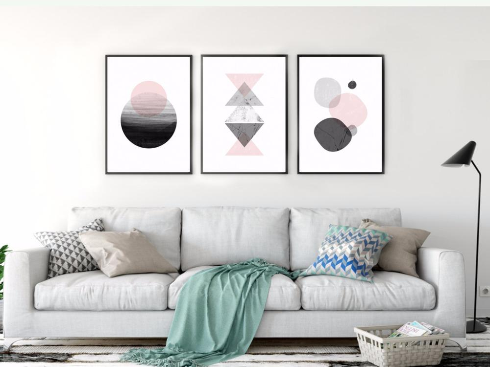 Pink Geometry Canvas