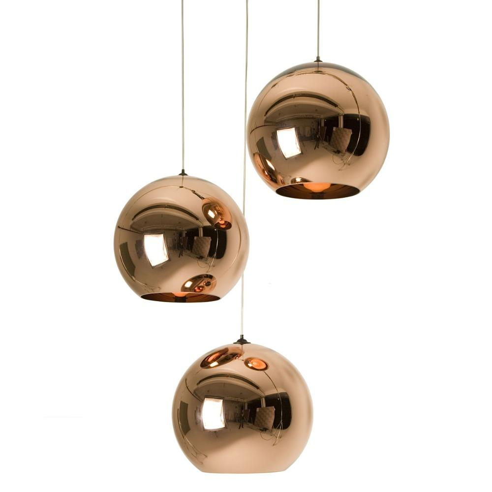 Copper Globe Pendant Light