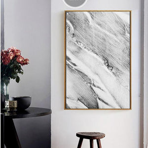 Abstract Grey Marble Canvas Wall Art