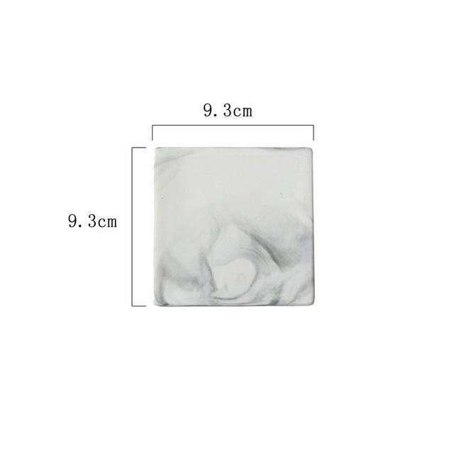 Luxe™ - White Marble Coaster Set