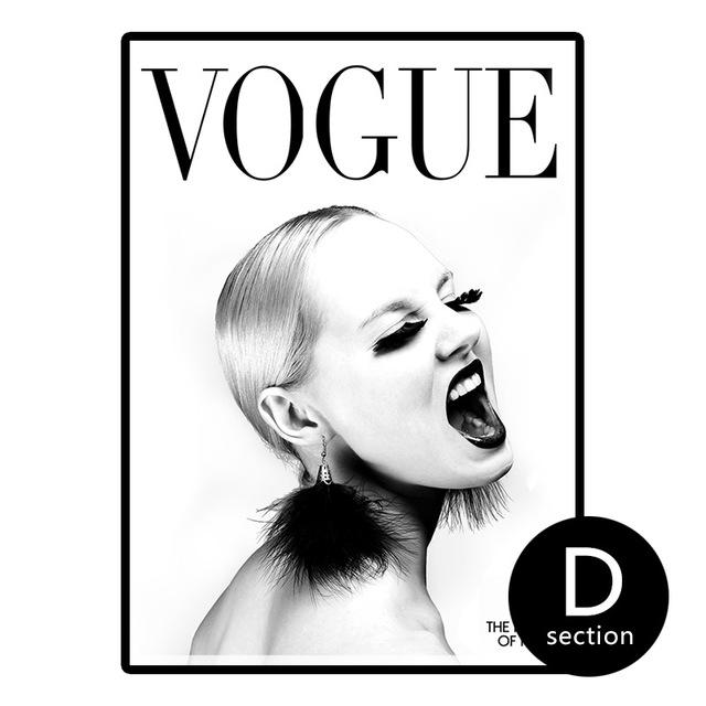 Vogue Cover Canvas Wall Art