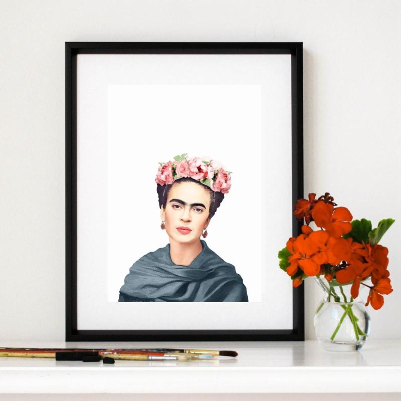 Frida Kahlo Minimalist Canvas