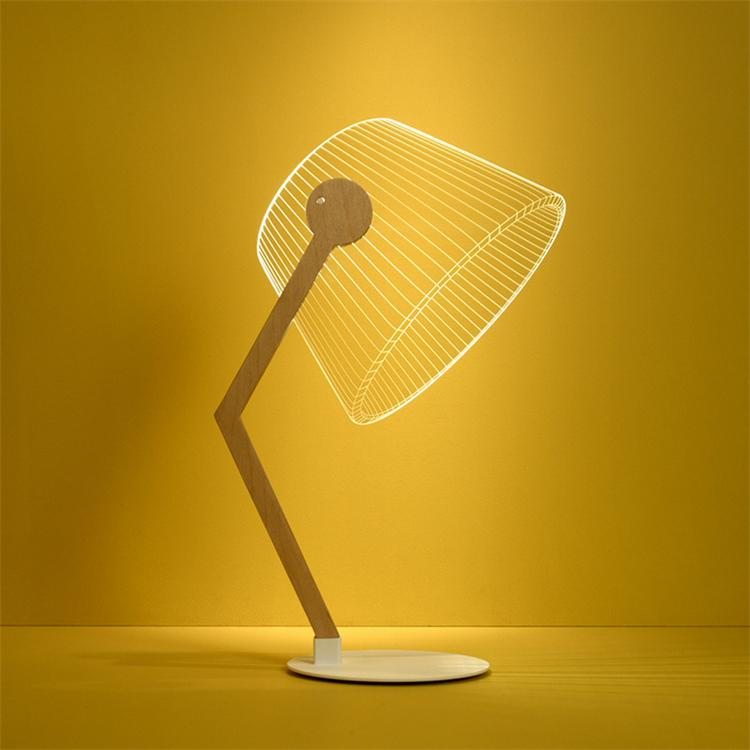 3D Effect LED Table Lamp