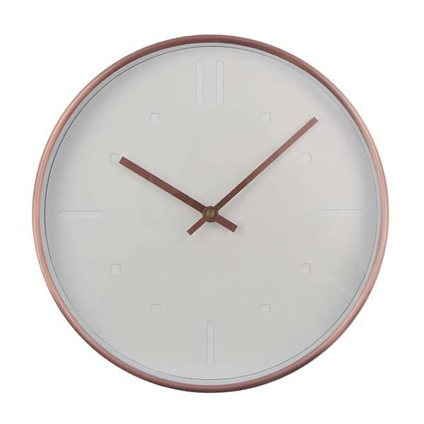 Minimalist Rose Gold Detailing Wall Clock