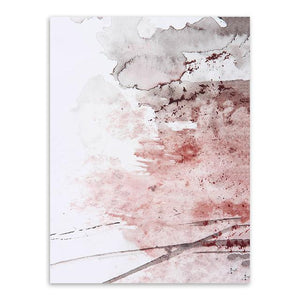 Red Abstract Canvas Wall Art
