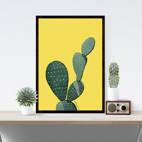 Colorful Cactus Canvas Wall Art – Ivy and Wilde