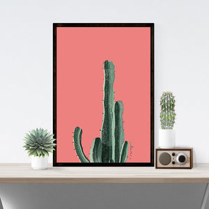 Colorful Cactus Canvas Wall Art