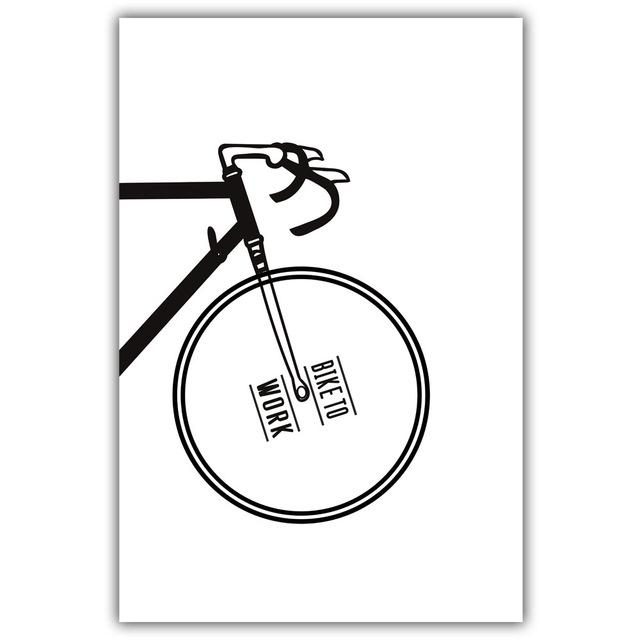Monochrome Bicycle Canvas Wall Art