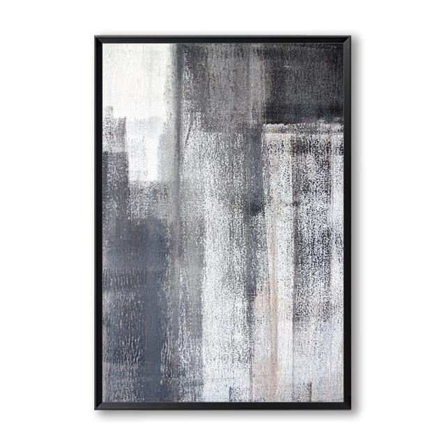 Abstract Grey Brushed Canvas Wall Art