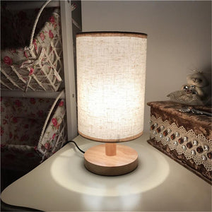 Wooden USB Powered Table Lamp