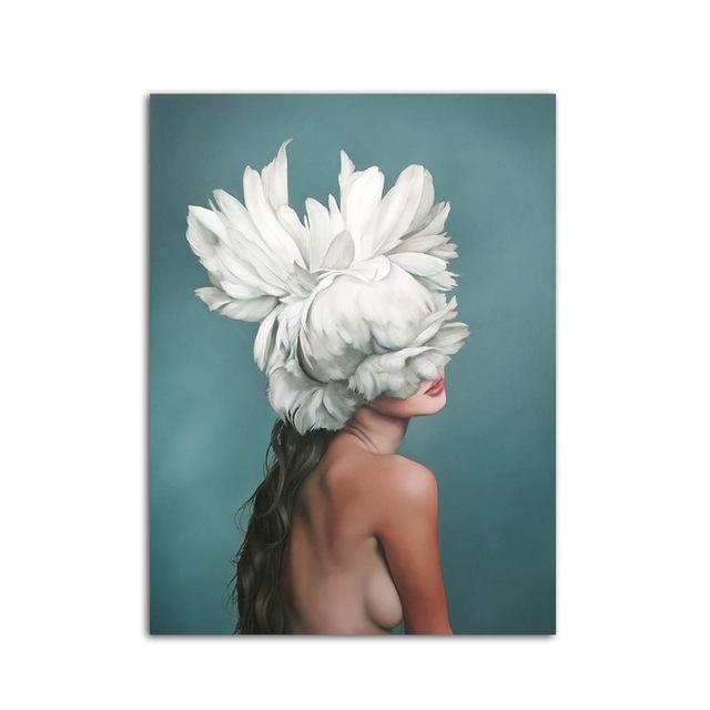 Flower Girl Canvas Wall Art
