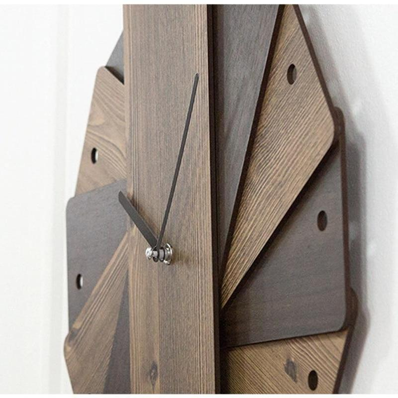 Layered Wooden Wall Clock