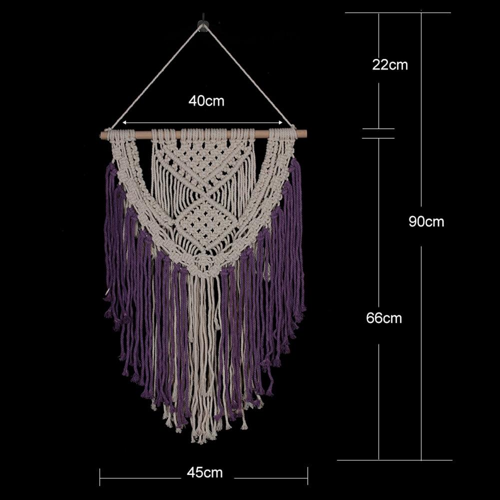 Purple Y Macrame Tapestry
