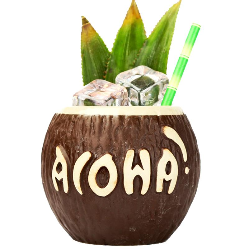 Coconut Tiki Cocktail Cup