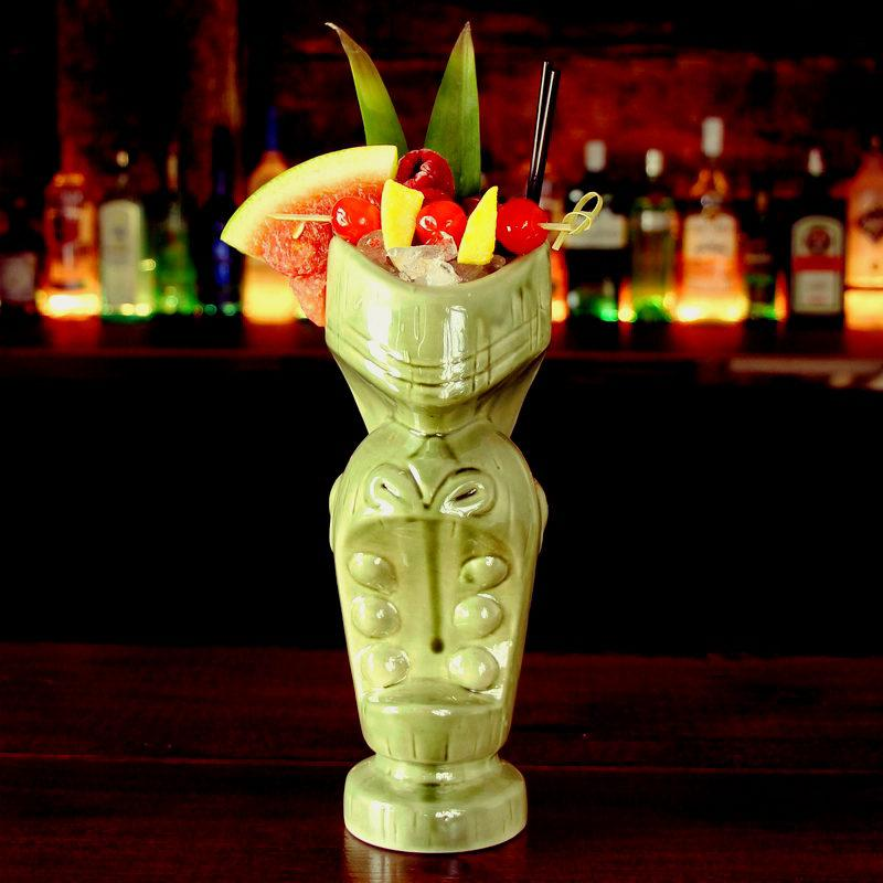Green Tiki Cocktail Cup