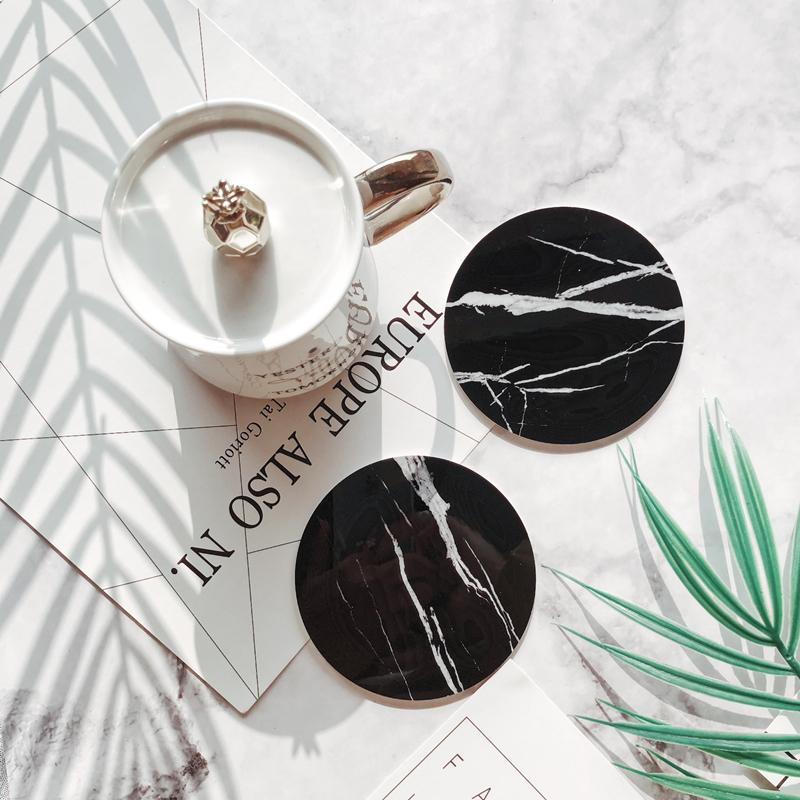 Faux Marble Chic Cup Coasters