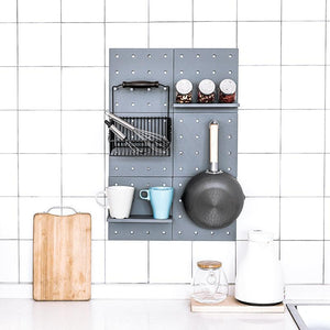 Wall Hanging Storage Shelf with Hooks