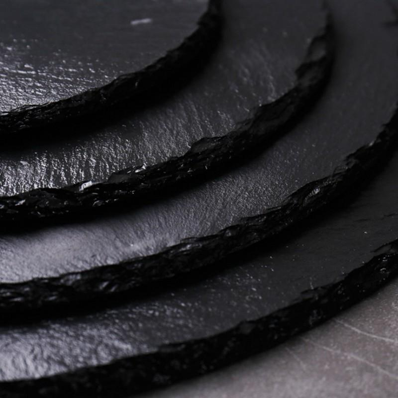 Luxe™ - Black Natural Slate Plate