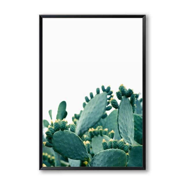 """PEACE ON EARTH"" Cactus Canvas Wall Art"