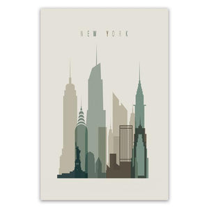 City Skylines Canvas Wall Art