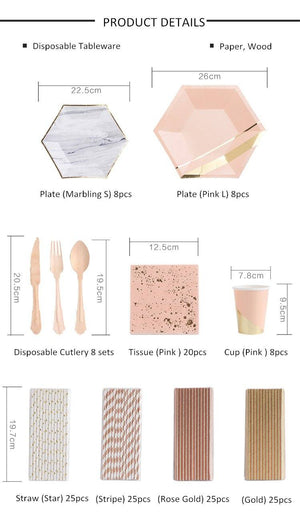 Chic Party Disposable Tableware Set