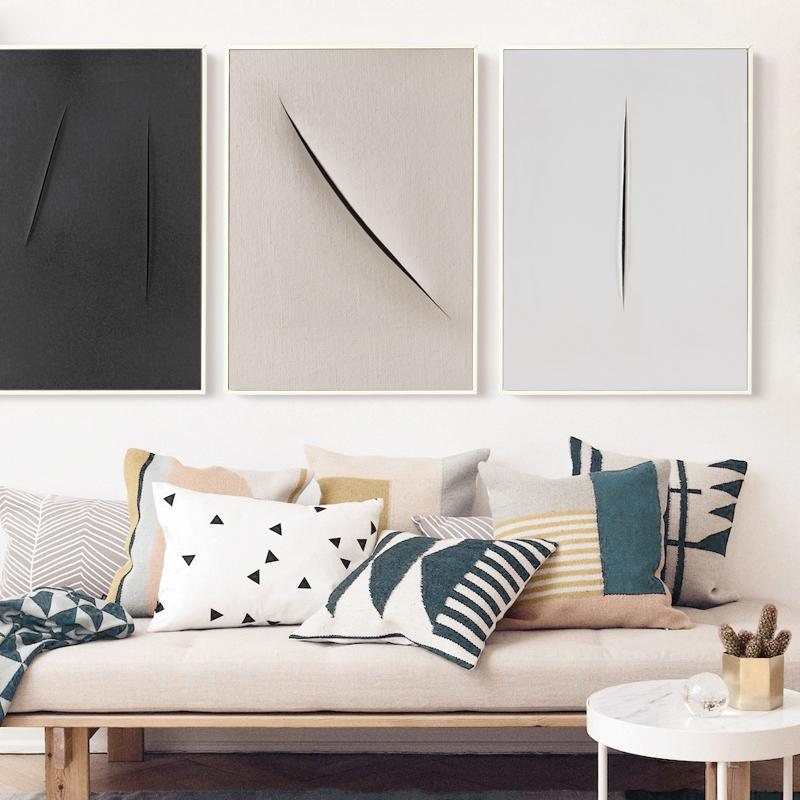 Abstract Paper Cuts Canvas Wall Art