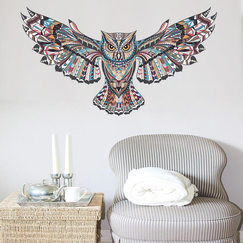 Colourful Owl Wall Decal