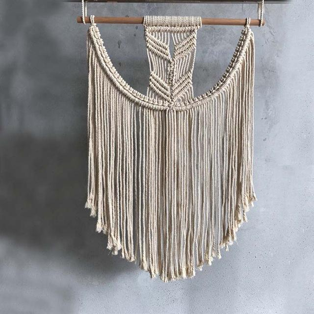 Large Curved Macrame Wall Tapestry