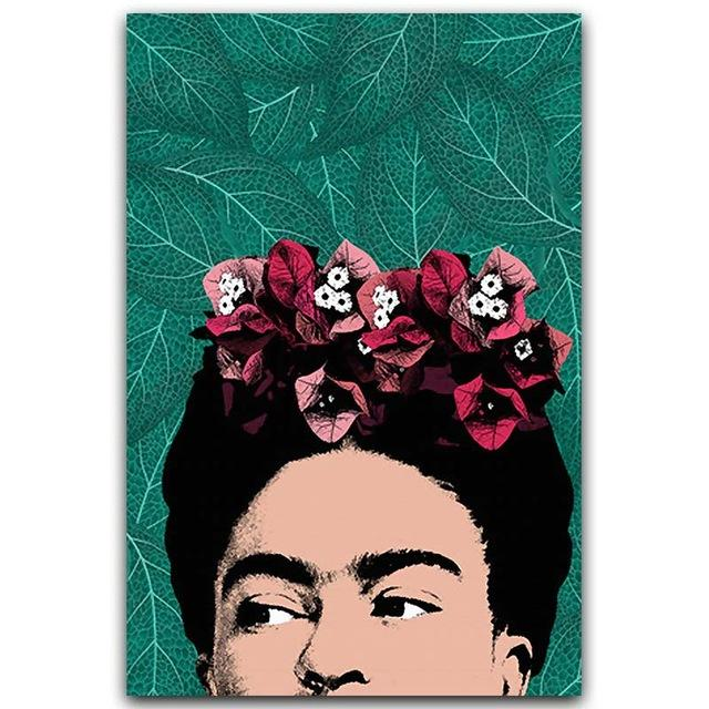 Frida Kahlo Leaves Canvas Wall Art