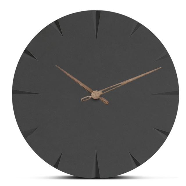 Black Round Wooden Wall Clock