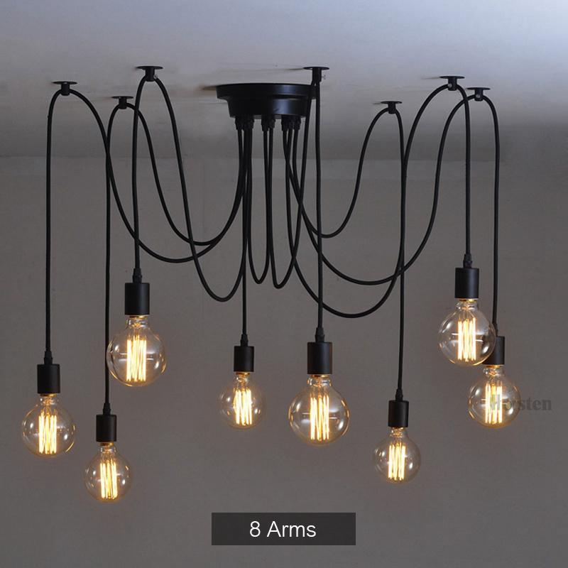 Industrial Spider Chandelier Pendant Light