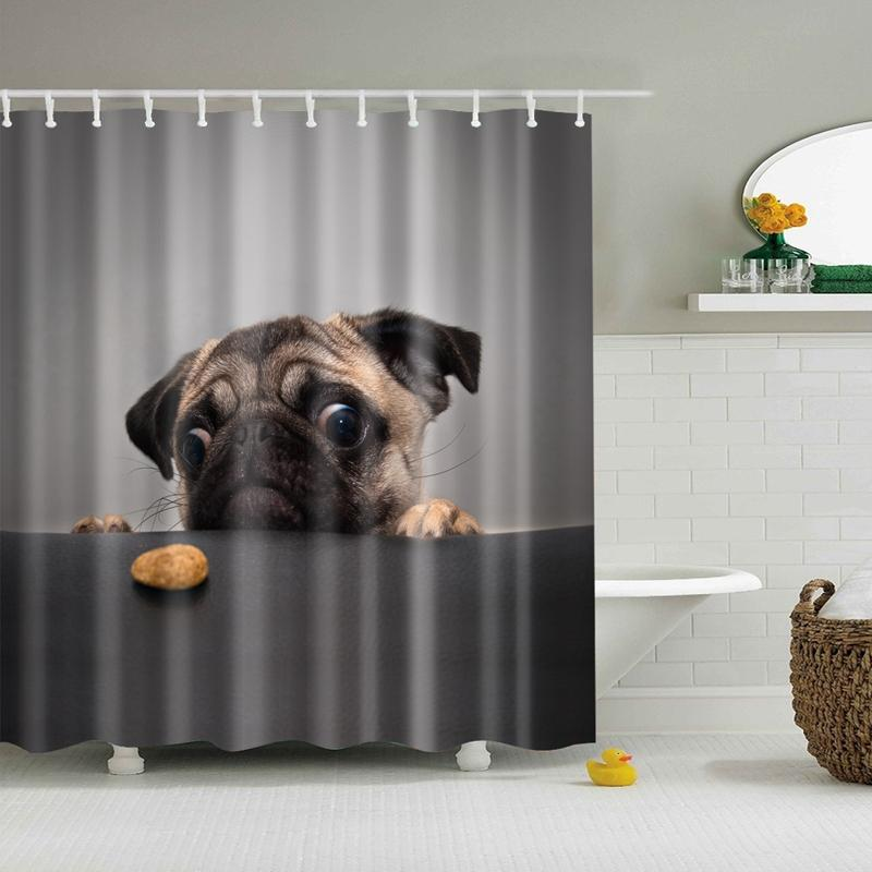 Pug Shower Cutrain