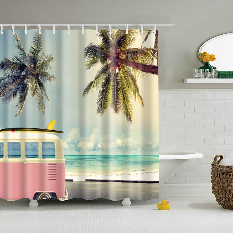 Beach Vacation Shower Curtain