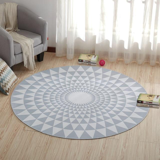 Living Room With Round Rug: Round Contemporary Living Room Rug