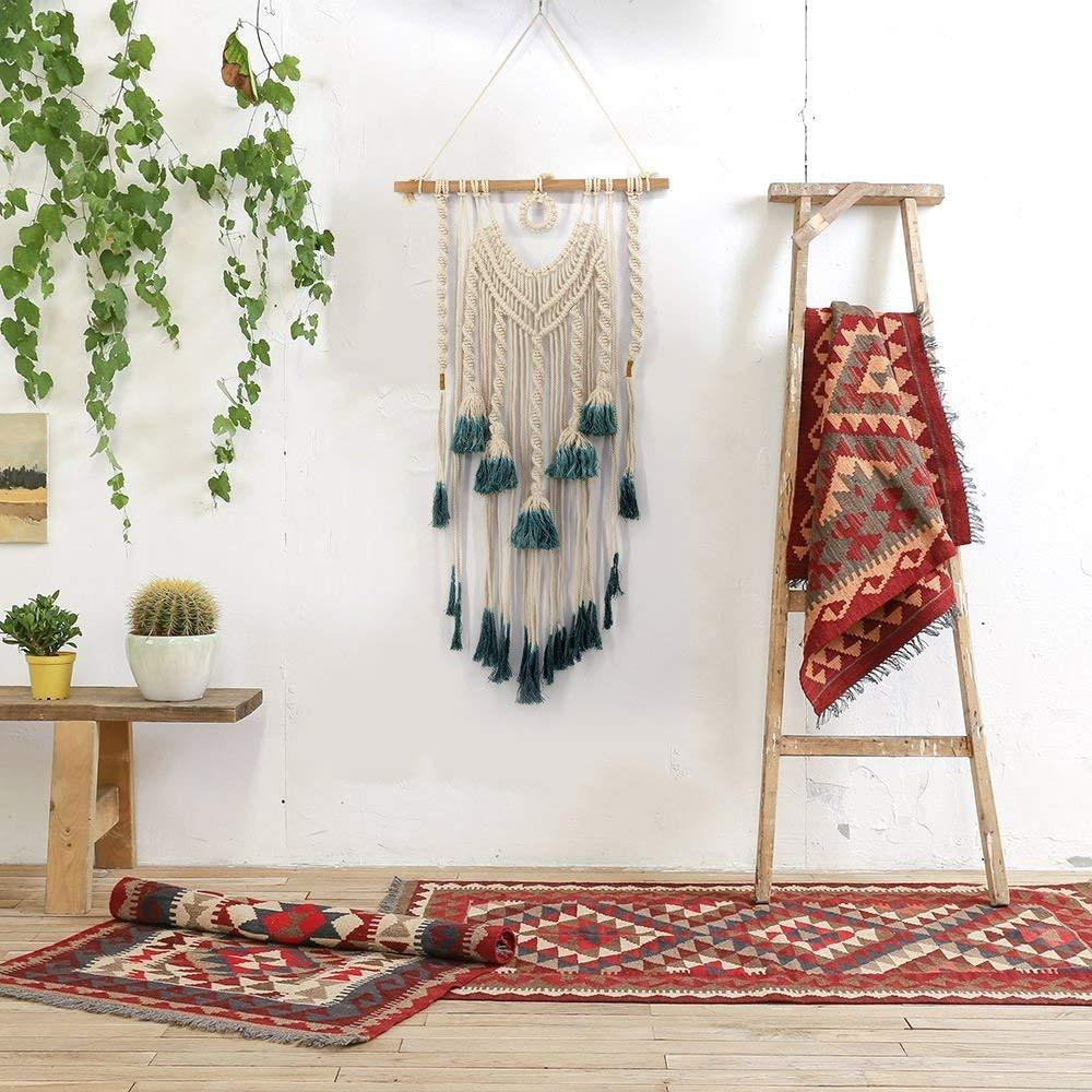 Green Knots Macrame Tapestry