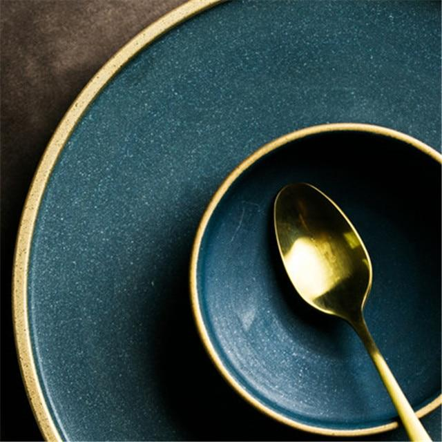 Jade and Gold Dinnerware Set