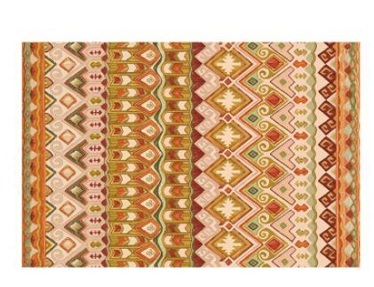 Geometric Moroccan Rugs - Yellow/Orange/Red