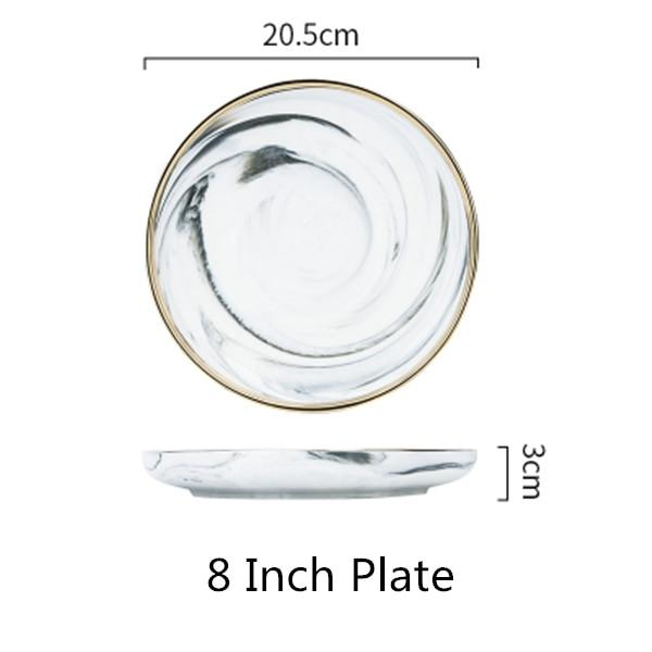 Marble and Gold Dinnerware