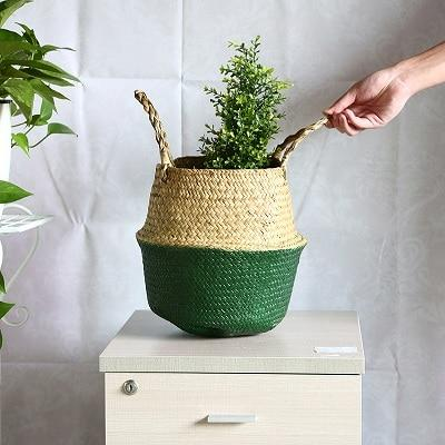 Rattan Straw Storage Baskets