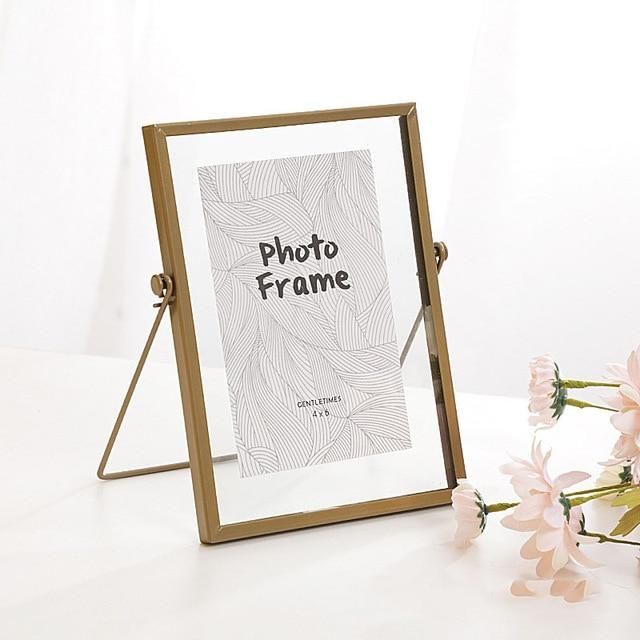 Chic Transparent Metal Photo Frame