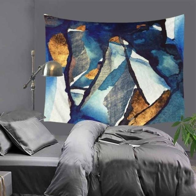 Abstract Blue Mountains Tapestry