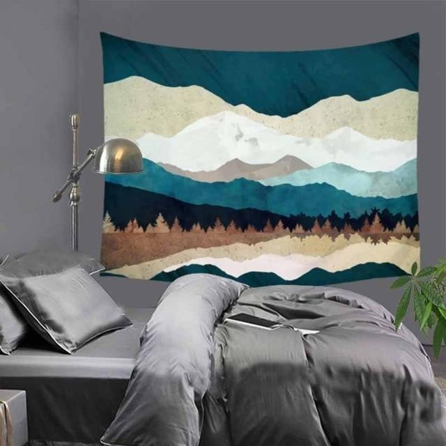 Abstract Mountains Tapestry