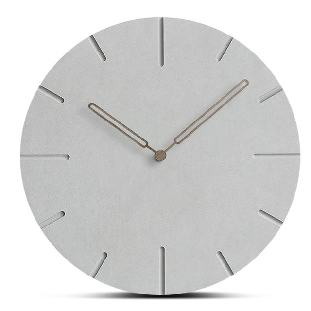 Wooden Faux Concrete Wall Clock