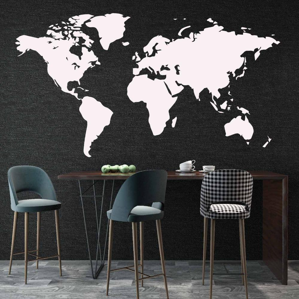 Minimalist World Map Wall Decal